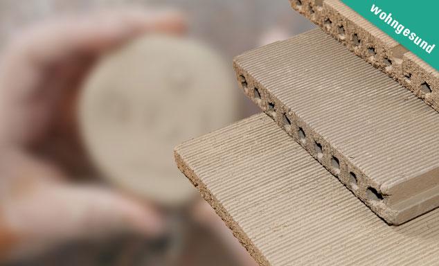Wohngesunde Lehmbauplatten