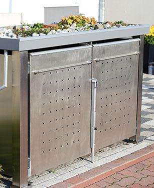 Bepflanzbare Mülltonnenboxen