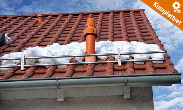 Schneefanggitter Komplett-Set