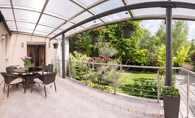 Wohnraumerweiterung durch Terrassenüberdachung