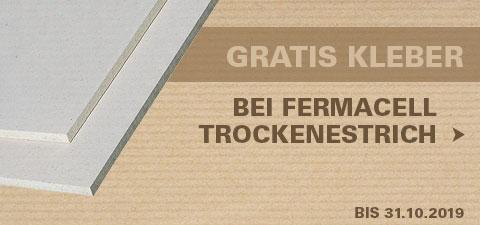 Gratis Estrichkleber beim Kauf von Fermacell Trockenestrich