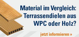 Material im Vergleich: Terrassendielen aus WPC oder Holz?