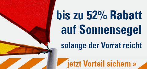 Sonnensegel bis zu 52% reduziert