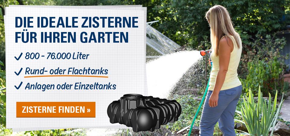 die ideale Zisterne für Ihren Garten