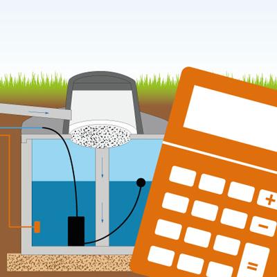 Regenwassertank Größe berechnen
