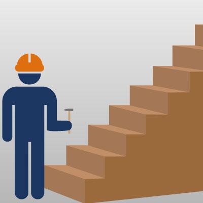 Treppe ohne großen Aufwand renovieren