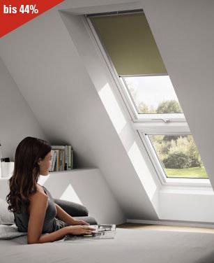 Velux Verdunkelungsrollo in einem Velux Dachfenster