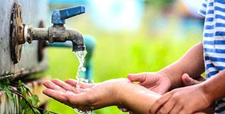 Auslaufhahn Gartenbewässerung