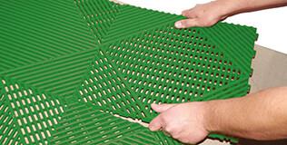 Kunststoff Klickfliesen
