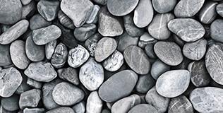 Zierkies & Bruchsteine grau